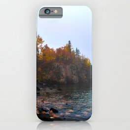 Fall Colors at Black Sand Beach-Minnesota and Lake Superior iPhone Case