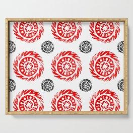 Sun mandala pattern Serving Tray