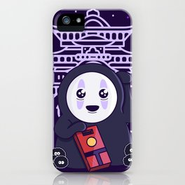 Maneki Kaonashi - No Face Cute Kawaii iPhone Case