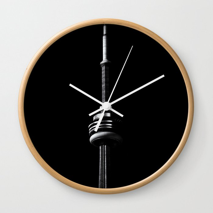 Cn Tower Toronto Canada No 1 Wall Clock By Thelearningcurve Society6