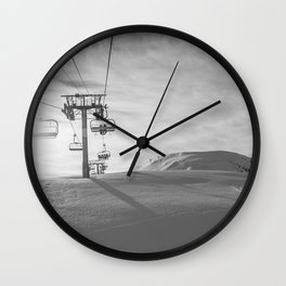 Alps ski lifts Wall Clock