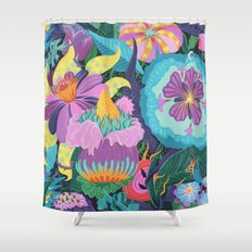 The Double Bee Shower Curtain
