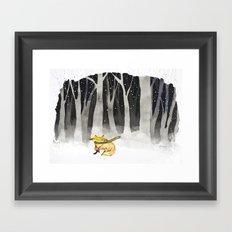 Rouxy in the Wood Framed Art Print