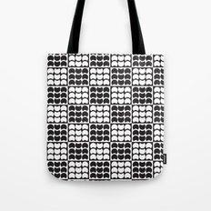 Hob Nob Black White Quarters Tote Bag