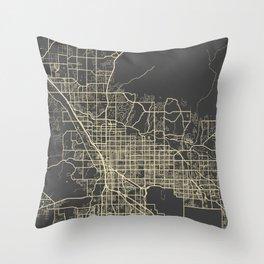 Tucson Map yellow Throw Pillow