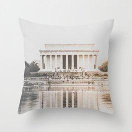 Lincoln Memorial Washington D.C. Throw Pillow