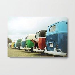 Colorful Buses Metal Print