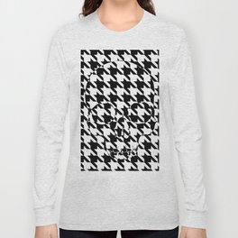 HOUNDSTOOTH SKULL #2 Long Sleeve T-shirt
