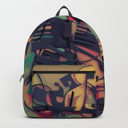 Aquarium- Abstract Paper Collage Fantasy Backpack