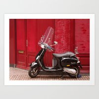 Bad motor scooter... Art Print