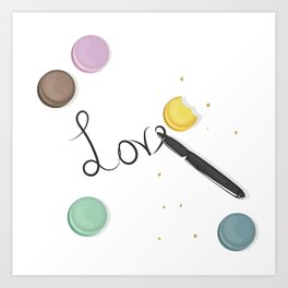 Love is Better Art Print