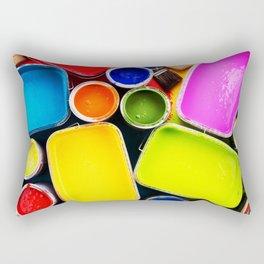 Colorful Art Paint Rectangular Pillow