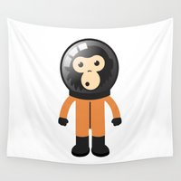 ape Wall Tapestries featuring Astronout Ape by Emekli Astronot