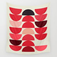 Red Bowls Wall Tapestry
