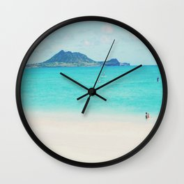 Kailua beach- Oahu Wall Clock