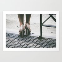 heels Art Prints featuring Heels by Photography by H. Salonen-Kvarnström