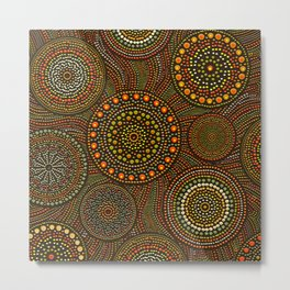 Dot Art Circles Aboriginal Art #1 Metal Print