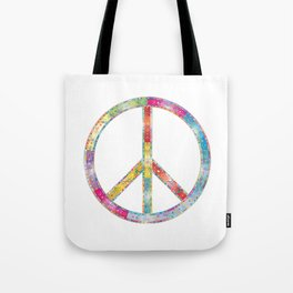 flourish decorative peace sign Tote Bag