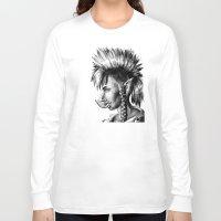 warcraft Long Sleeve T-shirts featuring Punk Troll by Georgia Goddard