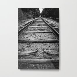 Old Train Tracks Metal Print