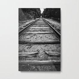Old Train Tracks Metal Print