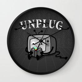 Unplug Wall Clock