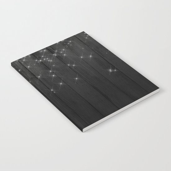 Fairy Lights on Wood 05 Notebook
