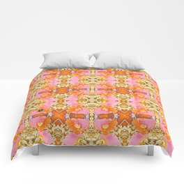 Pink & Orange Poppy 4B Comforters