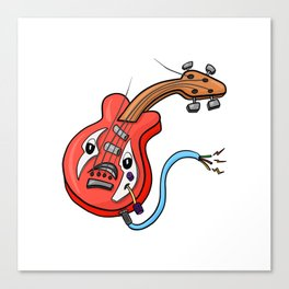 Sad Bass Guitar Broke The G String Canvas Print