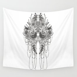 Black & White Lace Wall Tapestry