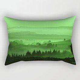 My road, my way. Green. Rectangular Pillow