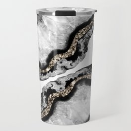 Yin Yang Agate Glitter Glam #10 #gem #decor #art #society6 Travel Mug