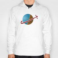 spaceship Hoodies featuring Spaceship! by JeffMcDowallDesign