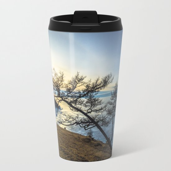 Harsh beauty of lake Baikal Metal Travel Mug