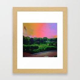 Daydream in central park Framed Art Print