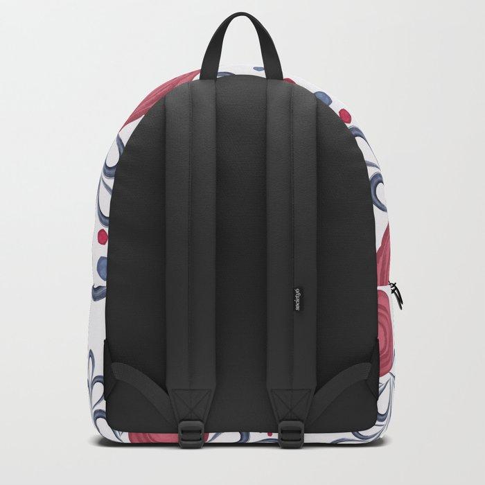 Floral pattern. Backpack