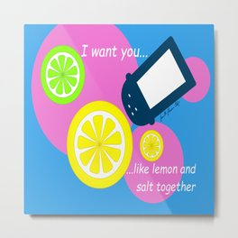 Lemon and Salt Metal Print