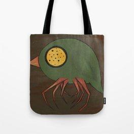 Green Button-Eye Spider-Bird Tote Bag