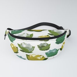 Floating Lotus - Green,White & Yellow Palette Fanny Pack
