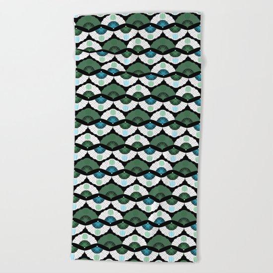 Green Vintage Beach Towel