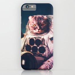 Funny Cat Astronaut #2 iPhone Case