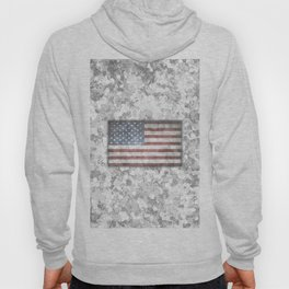 Winter White Patriotic Adaptive Hybrid Camo American Flag Hoody