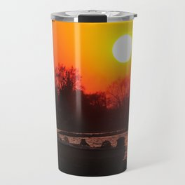 Silhouettes and Fire Travel Mug