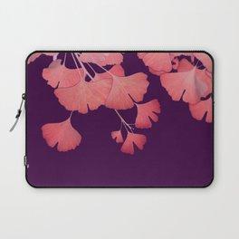 Coral Ginkgo Biloba Leaves Laptop Sleeve