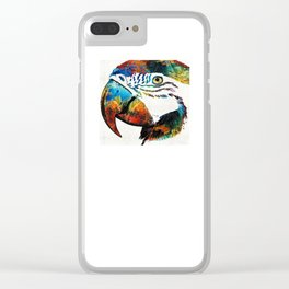 Parrot Head Art By Sharon Cummings Clear iPhone Case