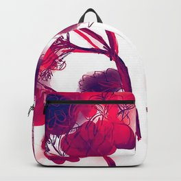 Red Geraniums Backpack