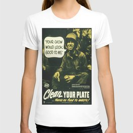 Vintage poster - Clean your plate T-shirt