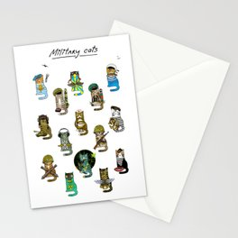 Military Cats Stationery Cards