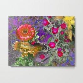 Vibrant Garden Metal Print