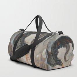 Black Battle Dragon Duffle Bag